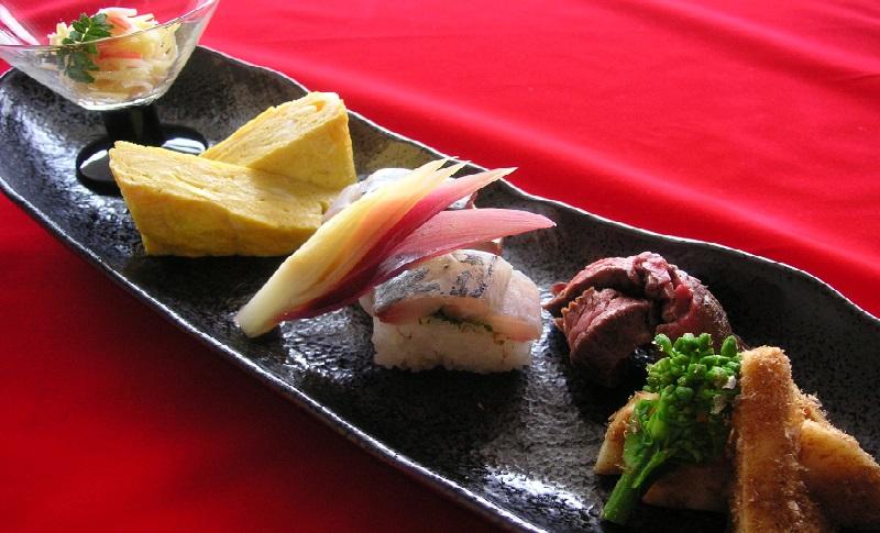 日本料理を本格的に。前菜の盛り合わせ・5点盛り